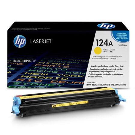Hộp mực màu HP 124A (vàng) – Dùng cho máy HP Color 1600/ 2600n