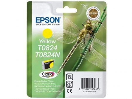 Mực in phun Epson T0824 (vàng) – Dùng cho máy in Epson t50