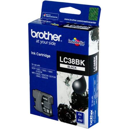 Mực in Phun Brother LC38BK (đen) – Cho máy MFC-250C/ 290C/ DCP-145C/ 165C