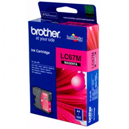 Mực in phun Brother LC67M (đỏ) – Cho máy MFC-185C/ 385C/  5490Cn/ DCP-585Cw/ 6690Cw