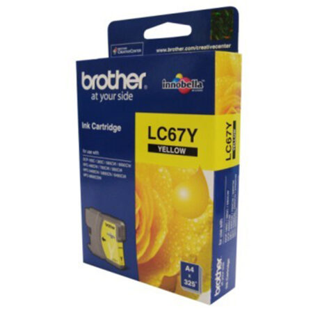 Mực in phun Brother LC67Y (vàng) – Cho máy MFC-185C/ 385C/  5490Cn/ DCP-585Cw/ 6690Cw