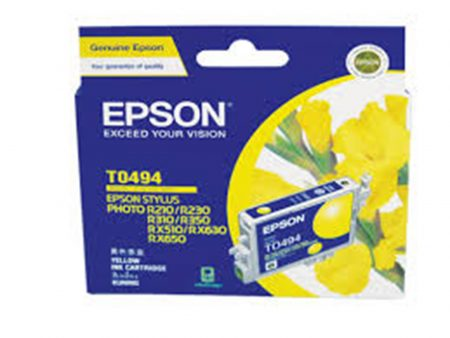 Mực in phun Epson T0494 (vàng) – Cho máy R210/ R230/ R310/ R350, RX-510/ 630/ 650