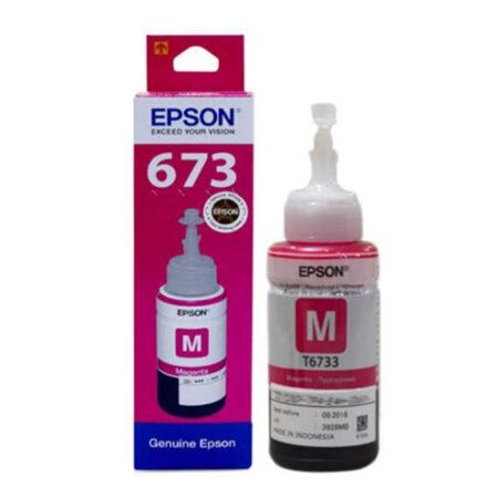 Mực in Epson T6733 (đỏ) – Dùng cho máy Epson L1800/ L800/ L805/ L850