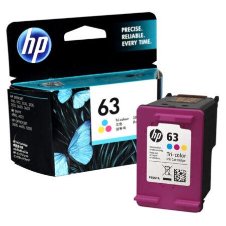 Mực in phun HP 63 (màu) – Cho máy HP Deskjet 1110/ 1112/ 2130/ 2132/ 3630