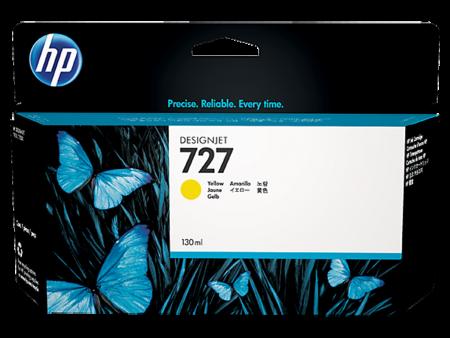 Mực in phun HP 727 vàng (B3P21A) – Dùng cho máy HP DesignJet T920/ T1500/ T2500
