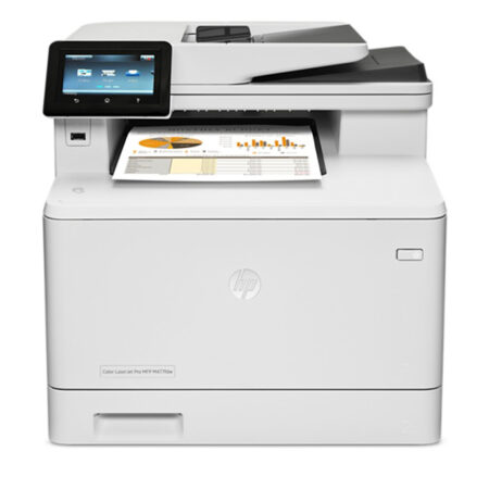Máy in laser màu đa năng HP M477fdw (In đảo mặt/ Scan/ Copy/ Fax + WiFi)