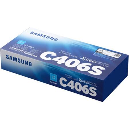 Hộp mực màu Samsung C406S (xanh) – Cho máy Samsung CLP-365/ C410/ C460