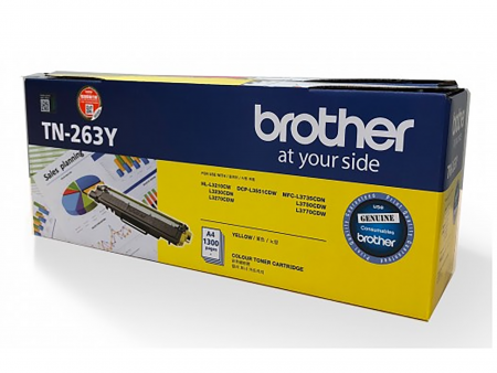 Hộp mực màu Brother TN263Y (vàng) – Brother 3230cdn/ 3551cdw/ 3750cdw