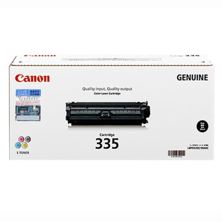 Hộp mực màu Canon 335BK (đen) – Cho máy in Canon LBP 841Cdn/ 843Cx